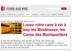 Louez votre cave a vin a Issy-les-Moulineaux Les Caves des Montquartiers