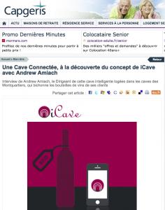 Une cave connectée,  à la découverte du concept iCave avec Andrew Amiach